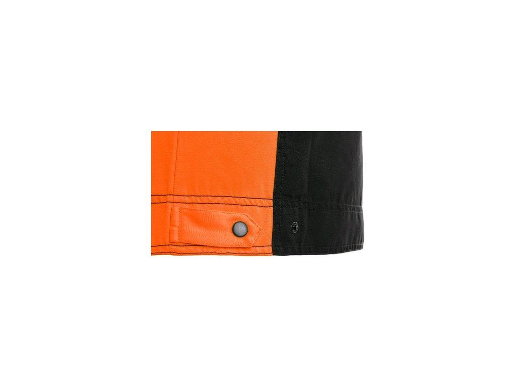 Blůza CXS SIRIUS BRIGHTON, černo-oranžová