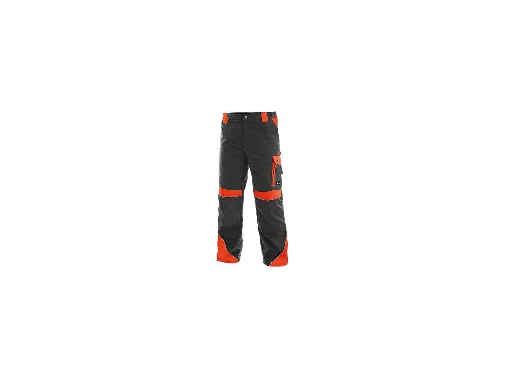Kalhoty do pasu CXS SIRIUS BRIGHTON, šedo-červená
