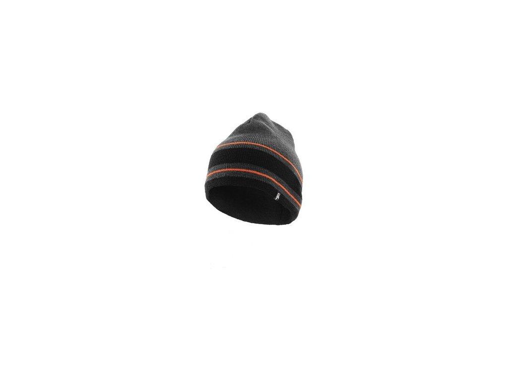 Čepice Sirius, šedo-oranžová