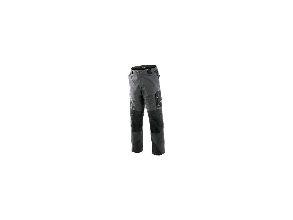 Kalhoty do pasu CXS SIRIUS NIKOLAS, prodloužené, pánské, šedo-zelené