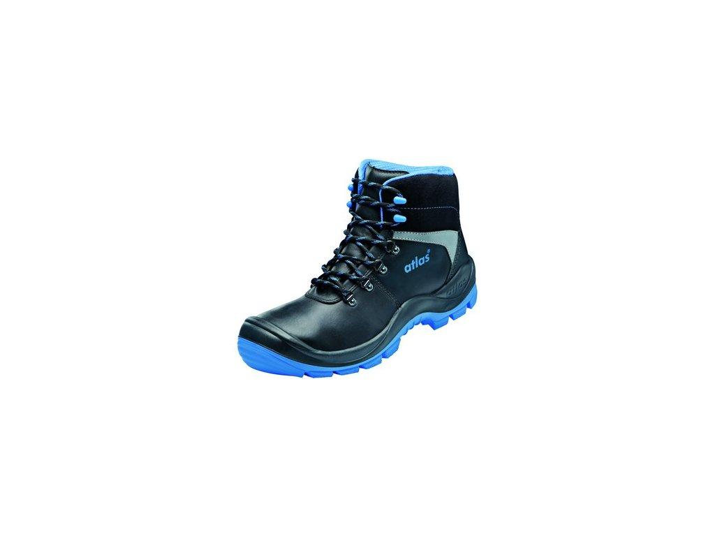 Kotníková obuv ATLAS SL 525 S3 ESD, černo-modrá