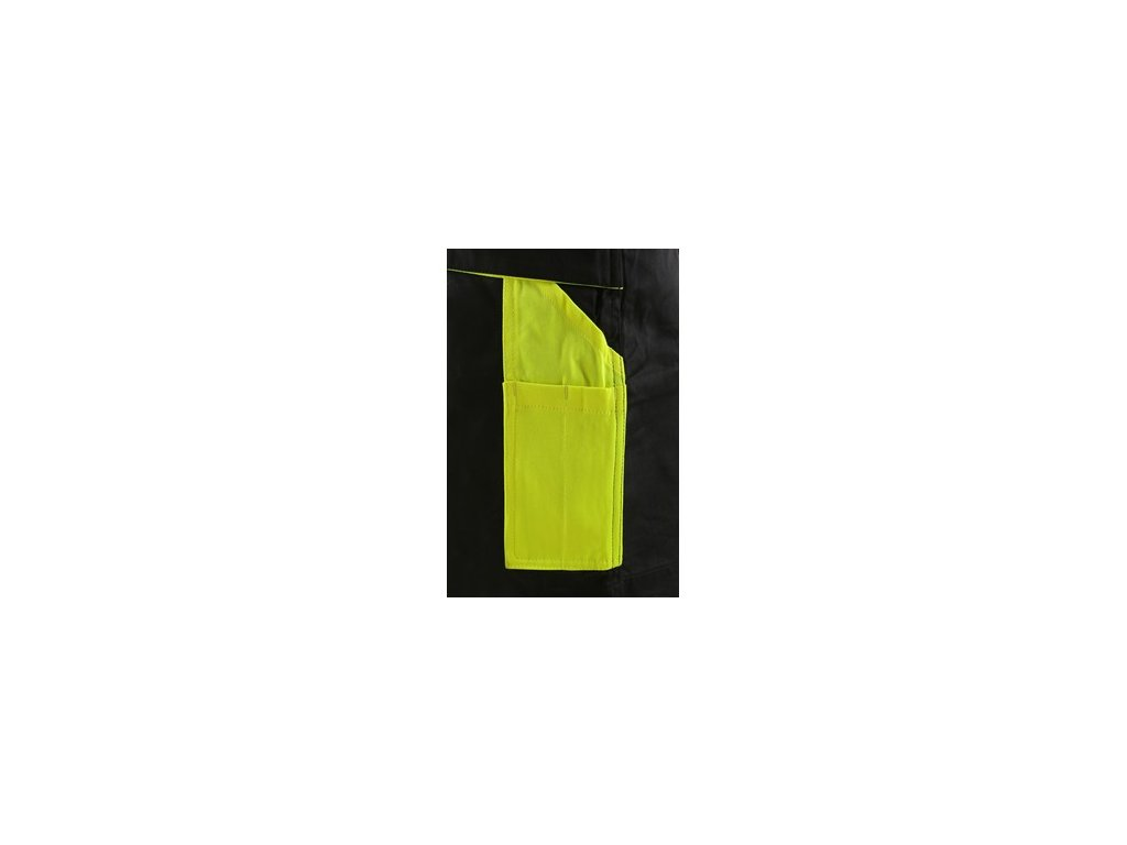 Kraťasy CXS SIRIUS BRIGHTON, pánské, černo-žluté