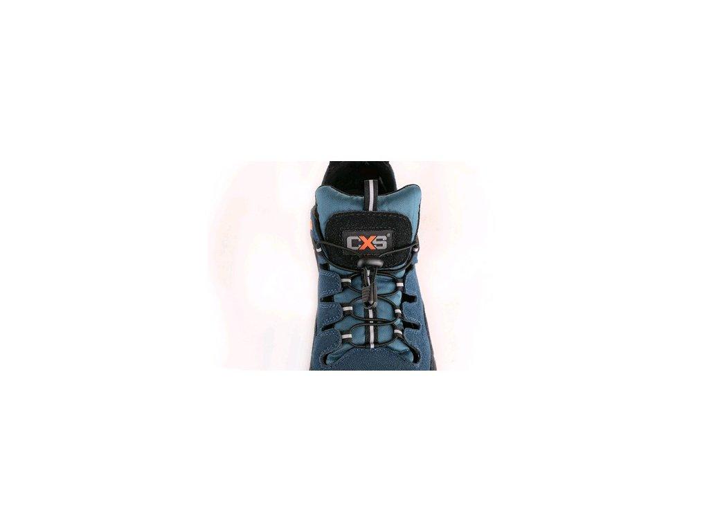 Obuv sandál CXS LAND CABRERA S1, ocel.šp., černo-modrá