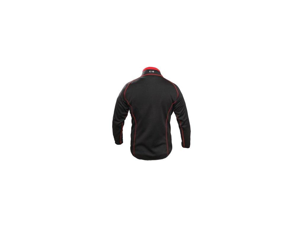 Mikina TORONTO, pánská, černo-červená