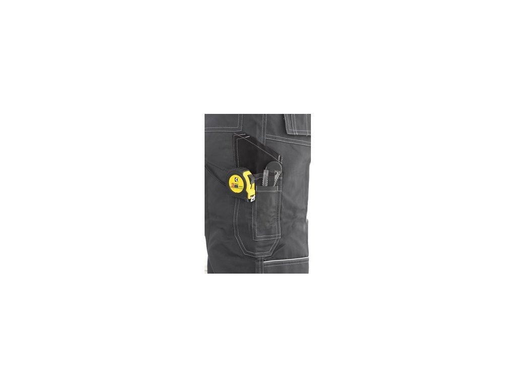 Kalhoty do pasu CXS ORION TEODOR, zimní, prodloužené, pánské, šedo-černé