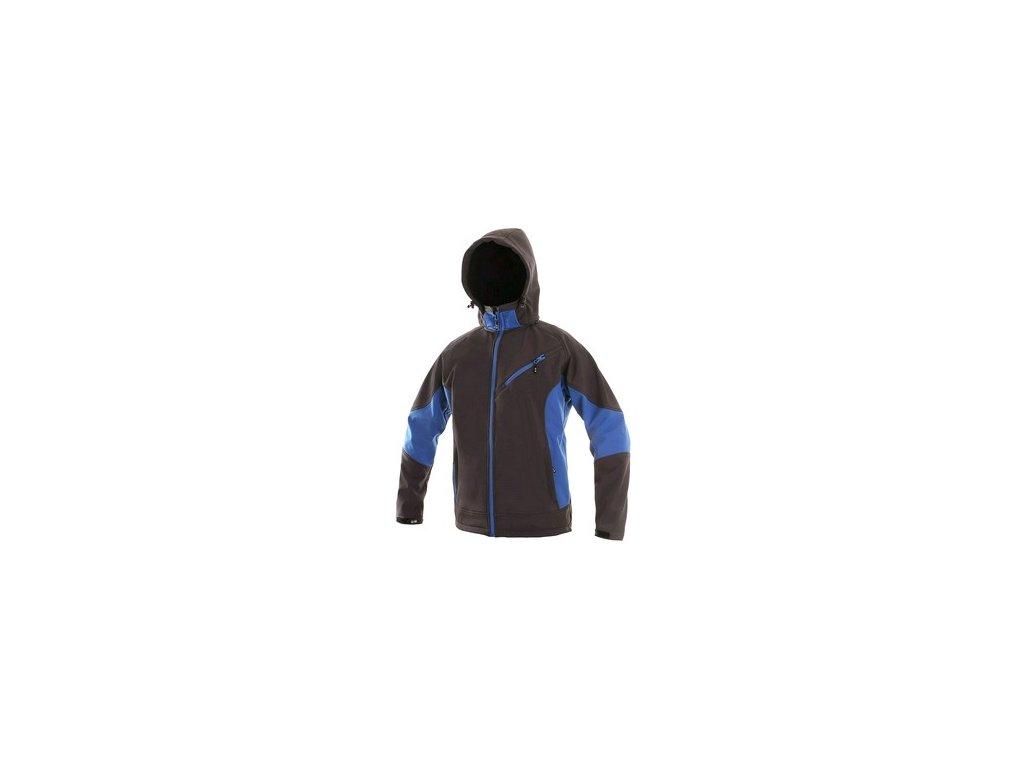 Pánská softshell bunda CXS SACRAMENTO, šedo-modrá