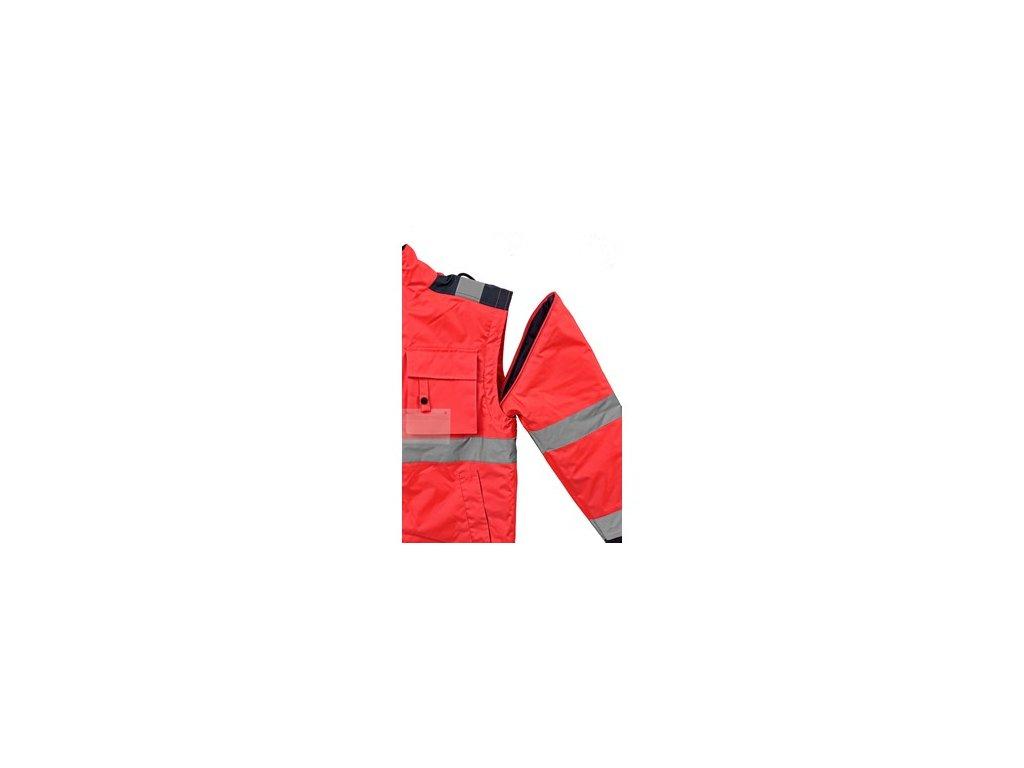 Bunda LUTON, výstražná, červeno-modrá