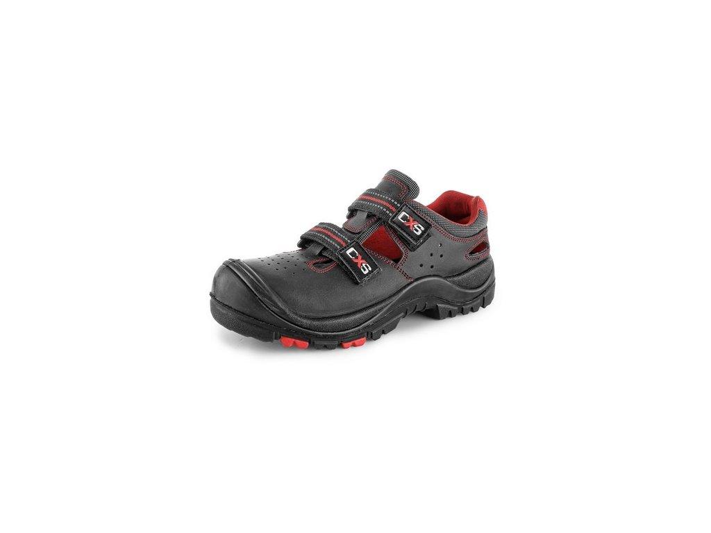 Obuv sandál CXS ROCK MICA S1P, kompozit. špice, kevlaro. planžeta, černý