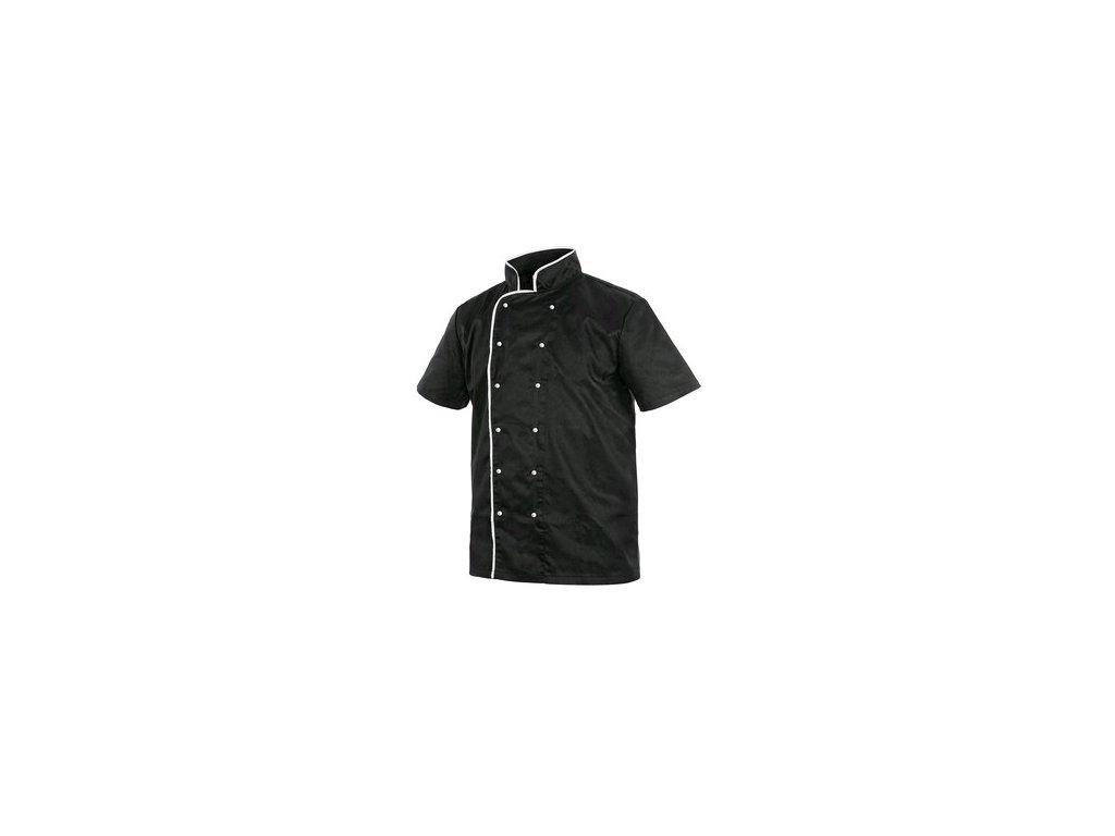 Rondon CHEF s krátkým rukávem, pánský, černo-bílý
