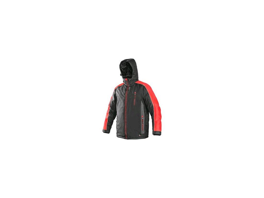 Bunda CXS BRIGHTON, zimní, šedo - červená