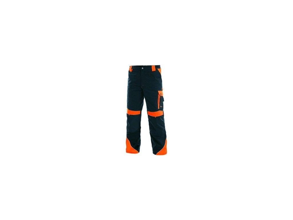 Kalhoty do pasu CXS SIRIUS BRIGHTON, pánské, modro-oranžové