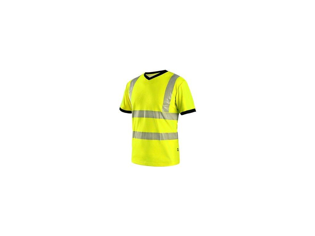 Tričko CXS RIPON, výstražné, pánské, žluto - černé