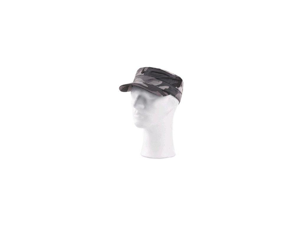 Čepice CXS VENATOR, černo - šedá (maskáčová), UNI