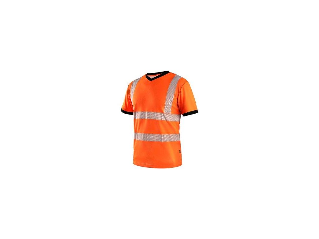Tričko CXS RIPON, výstražné, pánské, oranžovo - černé