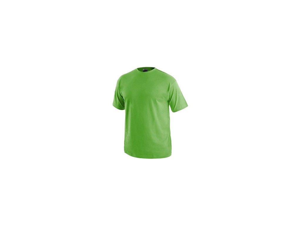 Tričko CXS DANIEL, krátký rukáv, zelené jablko