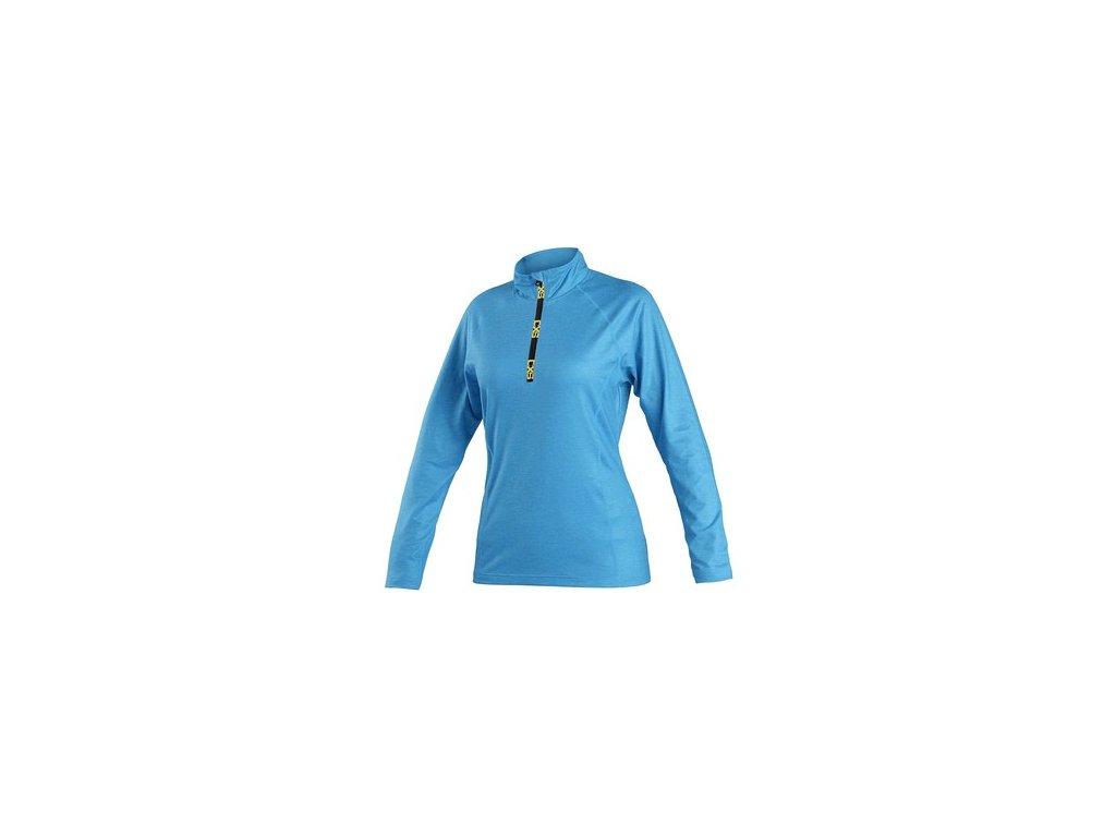 Mikina / tričko CXS MALONE, dámská, středně modrá