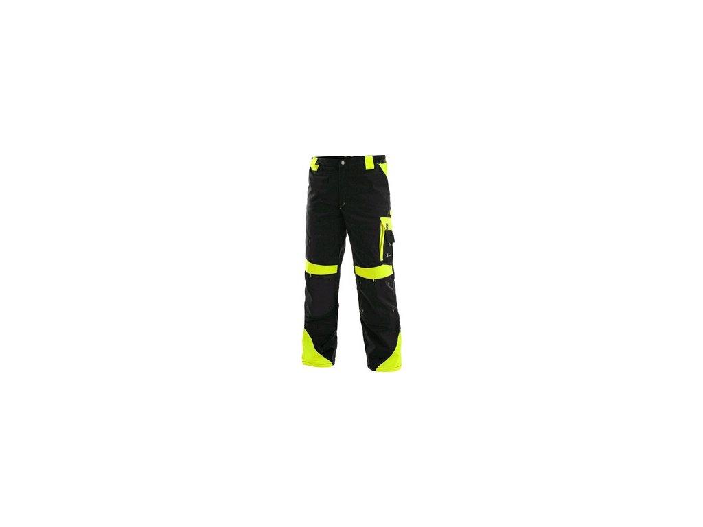 Kalhoty do pasu CXS SIRIUS BRIGHTON, 170-176cm, černo-žlutá