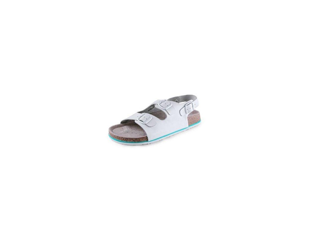 Obuv sandál CXS CORK MEGI, pánský, s páskem, bílý