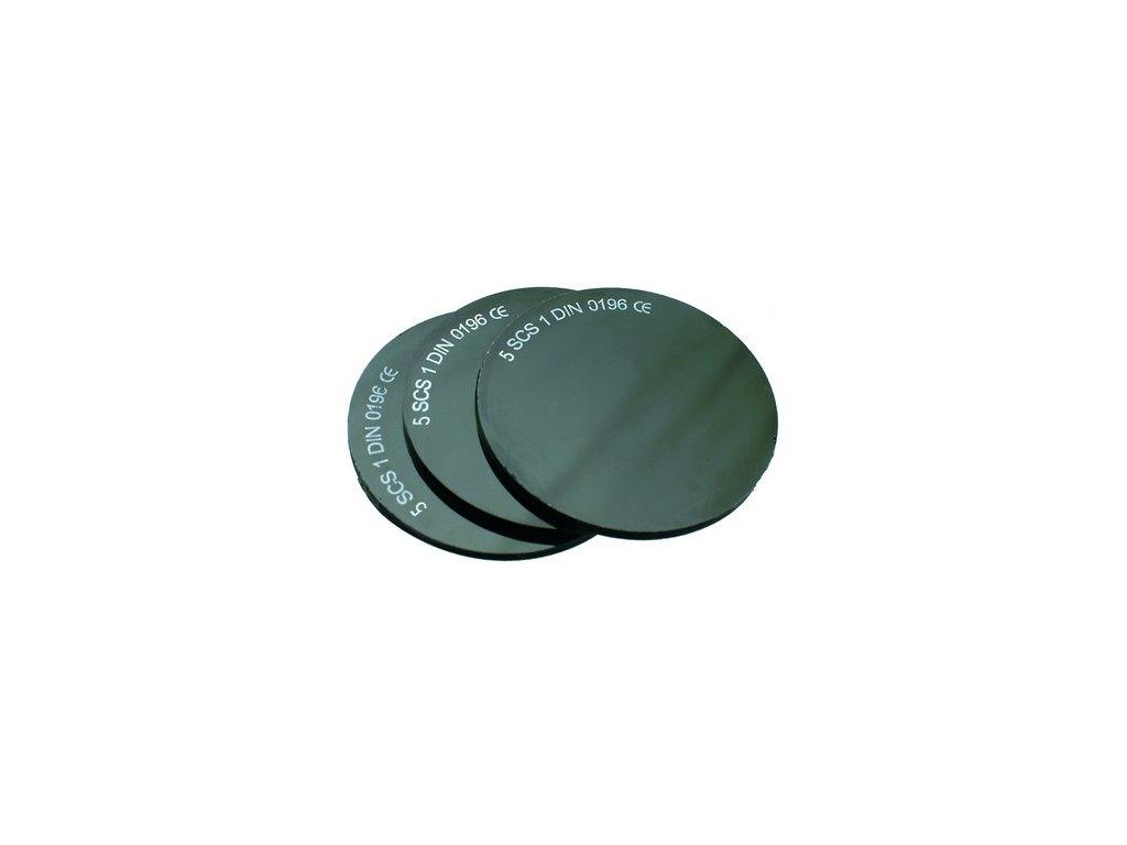 Sklo do svářečských brýlí, průměr 50 mm, tm. č. 5
