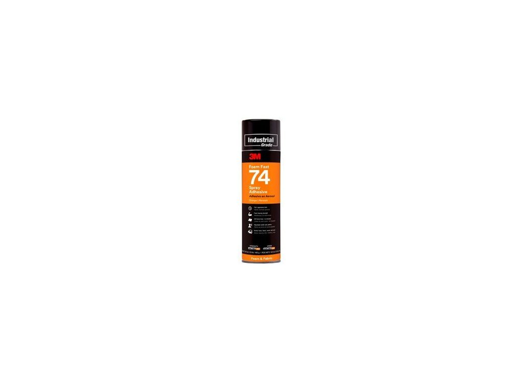3mtm foamfast 74 spray adhesive orange aerosol can