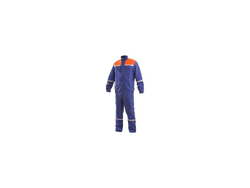 Pánská antistatická souprava ENERGETIK, modro-oranžová