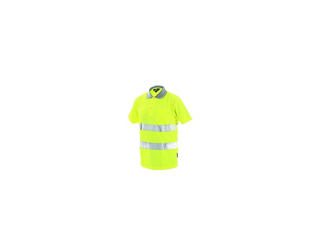 Pánská reflexní polokošile DOVER, žlutá