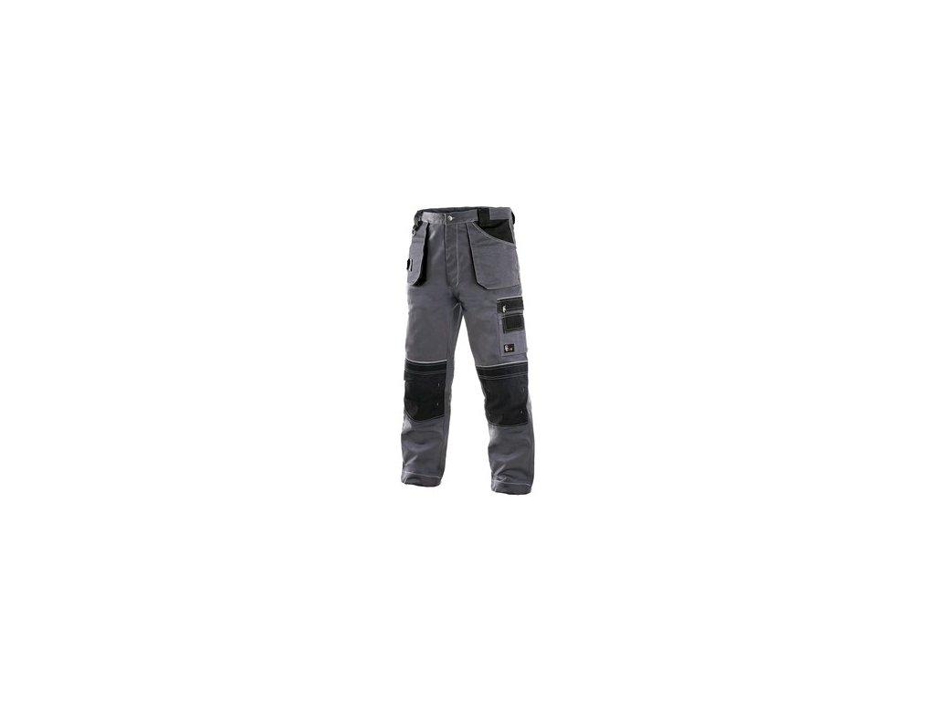 Kalhoty do pasu CXS ORION TEODOR, pánské, šedo-černé