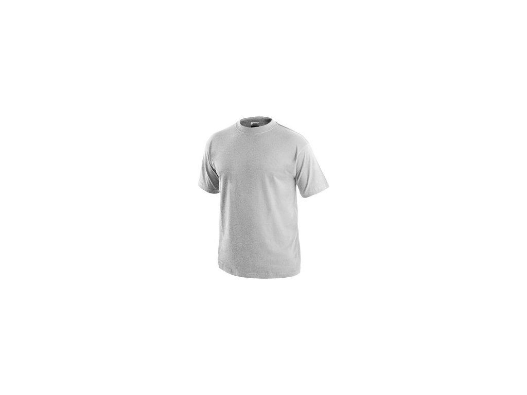 Tričko CXS DANIEL, krátký rukáv, světle šedý melír