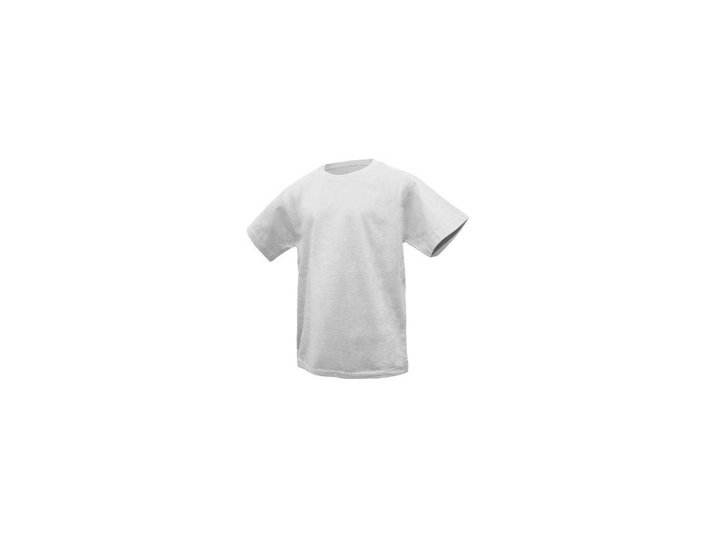 Dětské tričko s krátkým rukávem DENNY, bílé
