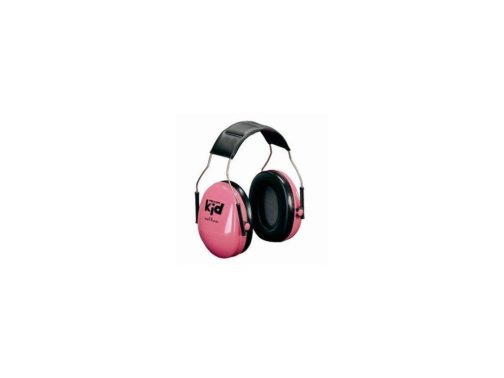 3m peltor kids ear muffs headband neon pink