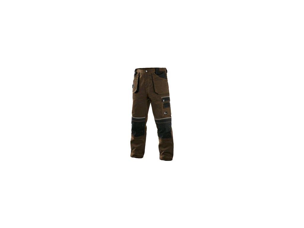 Kalhoty do pasu CXS ORION TEODOR, pánské, hnědo-černé