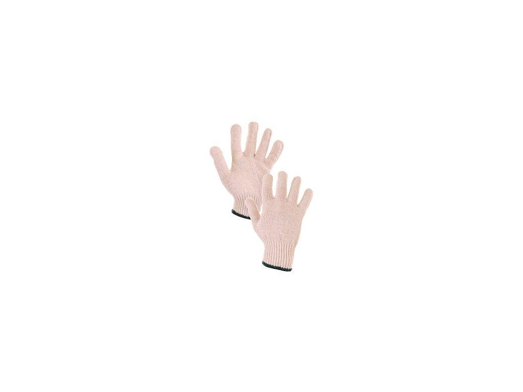Textilní rukavice FLASH, bílé
