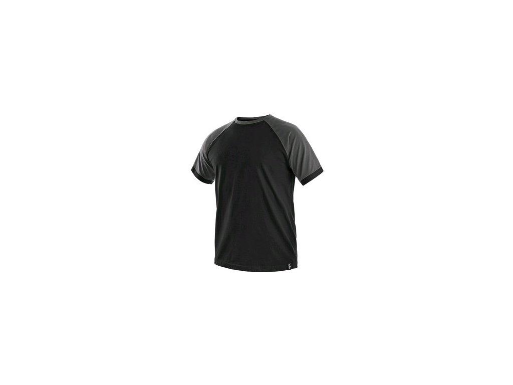 Tričko s krátkým rukávem OLIVER, černo-šedé