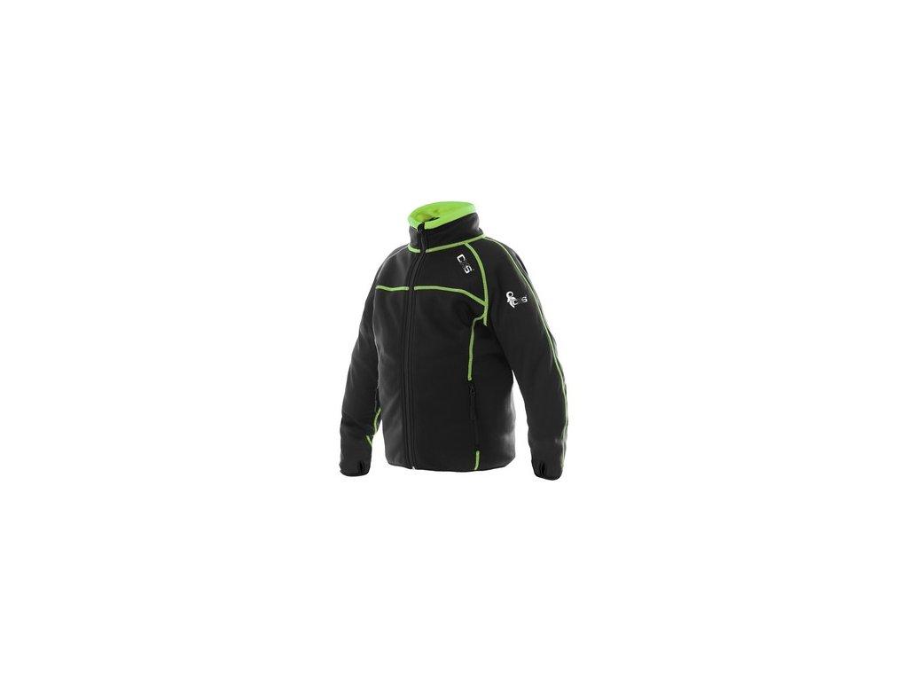 Dětská mikina TORONTO, černo-zelená