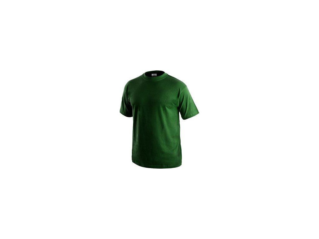 Tričko CXS DANIEL, krátký rukáv, lahvově zelená