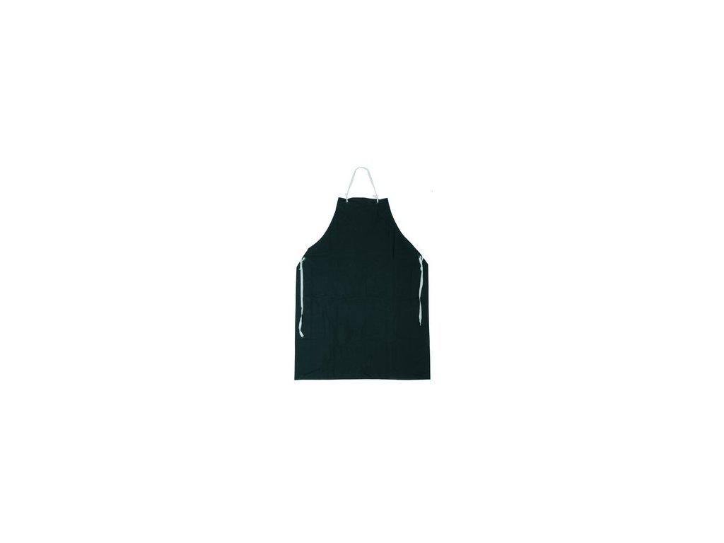 Zástěra GUSTAV, s náprsenkou, černá