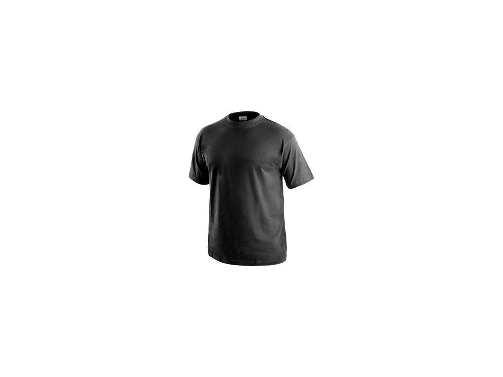 Tričko CXS DANIEL, krátký rukáv, černé