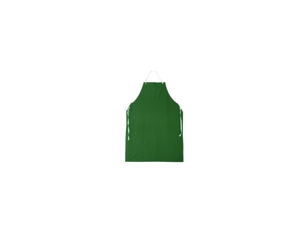 Zástěra GUSTAV, s náprsenkou, zelená