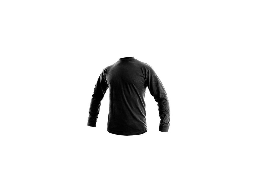 Pánské tričko s dlouhým rukávem PETR, černé