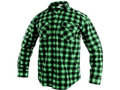 Pánská košile s dlouhým rukávem TOM, zeleno-černá