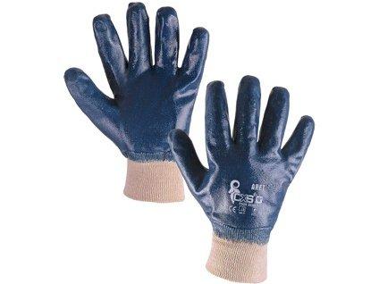 Povrstvené rukavice ARET, modré, vel. 10