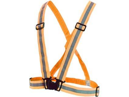 Reflexní elastický KŘÍŽ CROSS, oranžový