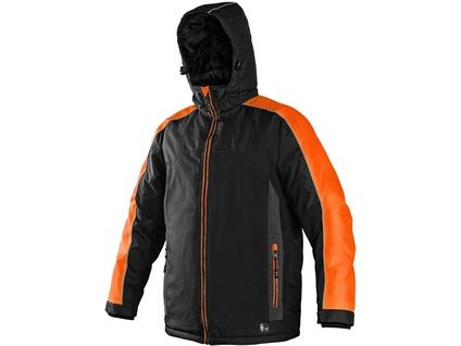 Bunda  CXS BRIGHTON, zimní, černo-oranžová