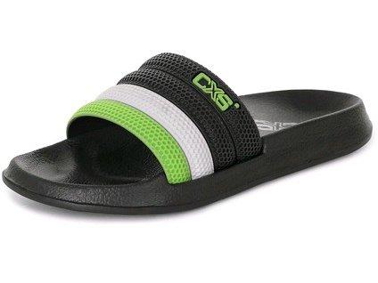 Obuv nazouvák CXS GULF, černo - zelený
