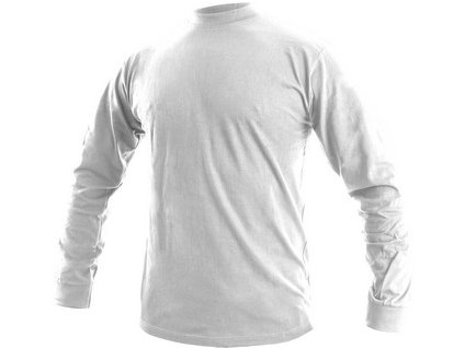 Pánské tričko s dlouhým rukávem PETR, bílé