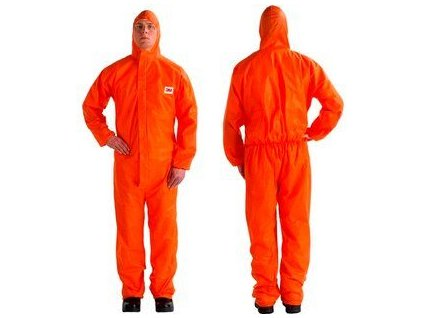 3m protective coverall 4515 orange front prodcut image