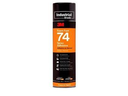 3mtm foamfast 74 spray adhesive orange aerosol can