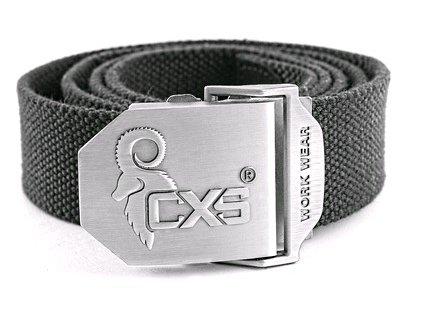 Opasek CXS NAVAH, černý, 4 cm, 125cm, textilní, spona s logem CXS