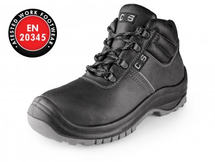 Obuv kotníková CXS SAFETY STEEL MANGAN S3, černá