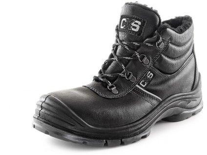 Obuv kotníková CXS SAFETY STEEL NICKEL S3, zimní, černá